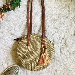 🔴 5/$25 • BOUTIQUE | Woven Handbag - BRAND NEW!